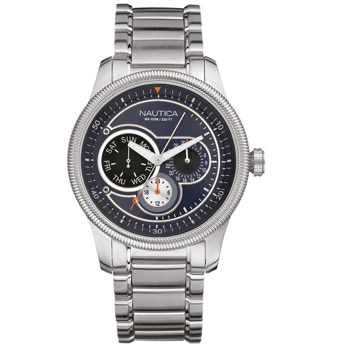 Ρολόι ανδρικό Nautica NCS 500 A16513 με μπρασελέ και μπλε καντράν aa555e0470f
