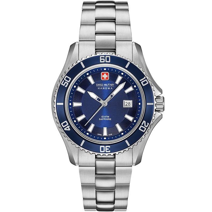 Ρολόι ανδρικό Swiss Military Hanowa Nautila 06-7296.04.003 με μπρασελέ και  μπλε καντράν 3d0660eb969