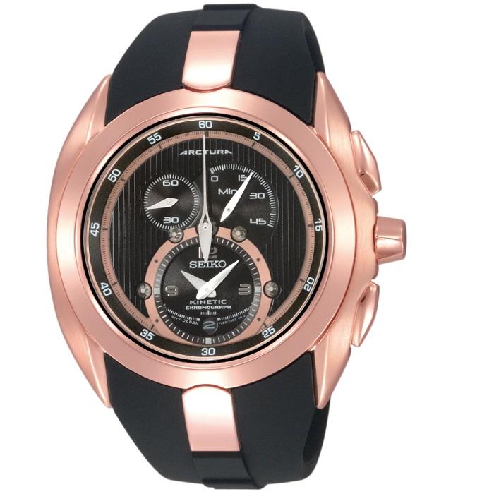 Ρολόι ανδρικό Seiko Arctura Kinetic με Rubber και μαύρο καντράν SNL060P1 0d135449407