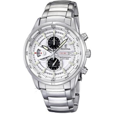 Ρολόι ανδρικό Festina με μπρασελέ και λευκό καντράν F6823 1 9d9a52d82bc