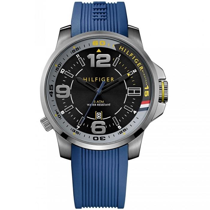 Ρολόι ανδρικό Tommy Hilfiger Brandon 1791010 με Rubber και μαύρο καντράν 6920b2ae20c