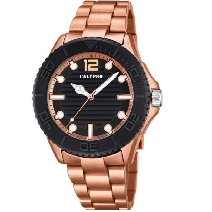 Ρολόι ανδρικό Calypso Sport K5645-3 με μπρασελέ και μαύρο καντράν 8827ac1a5fd