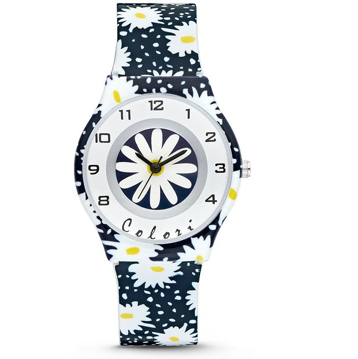 Ρολόι παιδικό Colori FunTime CLK045 με Rubber και μαύρο λευκό καντράν 079f8270e71