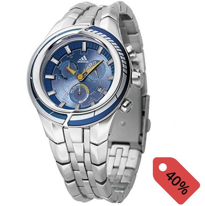 Ρολόι ανδρικό Adidas με μπρασελέ και μπλε καντράν ADP1015 4d0b59c0209