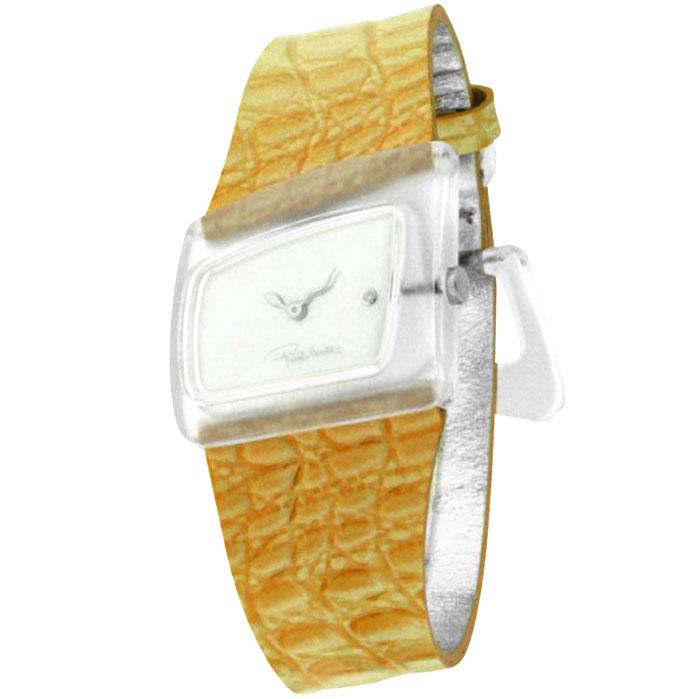 Ρολόι γυναικείο Roberto Cavalli με δερμάτινο λουρί και λευκό καντράν Mother  Of Pearl 7251102825 c4f6e0464cb