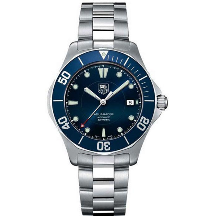 Ρολόι ανδρικό Tag Heuer Aquaracer 2000 WAB2011.BA0803 Automatic με μπρασελέ  και μπλε καντράν e61ec878895