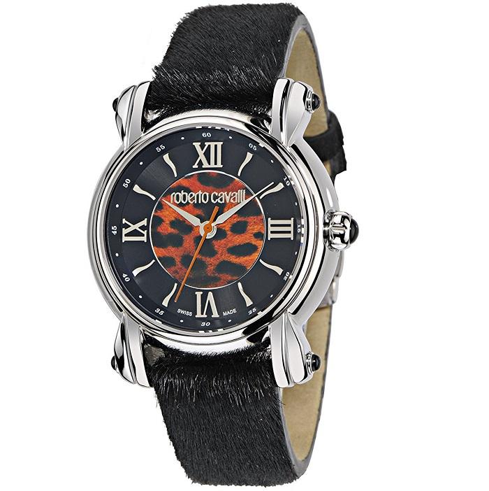 Ρολόι γυναικείο Roberto Cavalli 40th Anniversary Limited Edition με  δερμάτινο Pony Skin λουρί και Animal Print καντράν R7251172525 97e6a4d4503