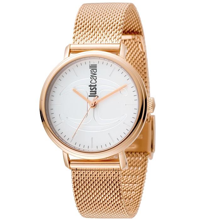 Ρολόι γυναικείο Just Cavalli JC1L012M0085 με μπρασελέ και λευκό καντράν  JC1L012M0085 0ceaf2d9206