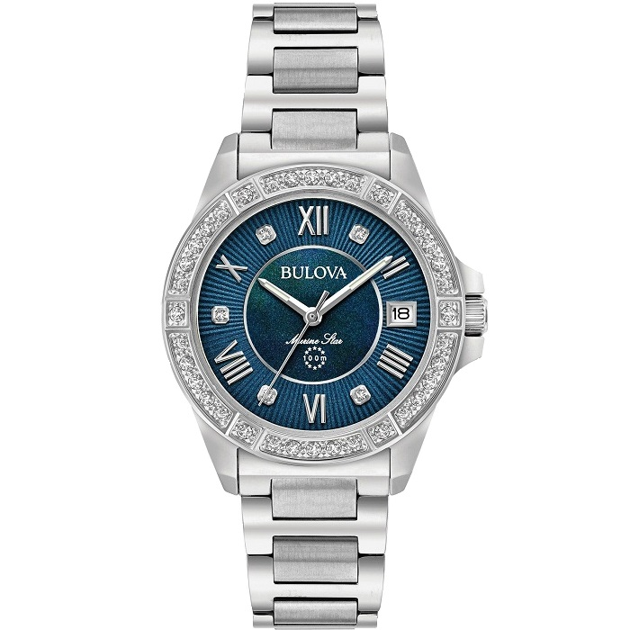 bulova diamond marine star 96r215