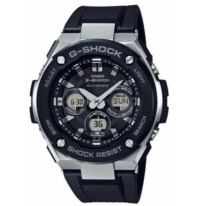 Ρολόι ανδρικό Casio G-Shock Solar GST-W300-1AER με Rubber και ψηφιακό  αναλογικό καντράν a599ffa4708