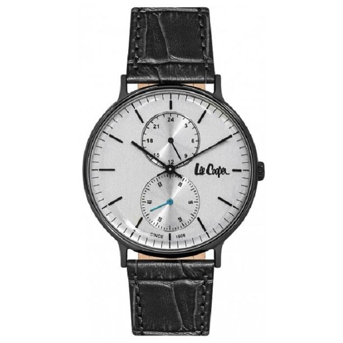 Ρολόι ανδρικό Lee Cooper LC06381.661 με δερμάτινο λουρί και ασημί καντράν e40c1213389