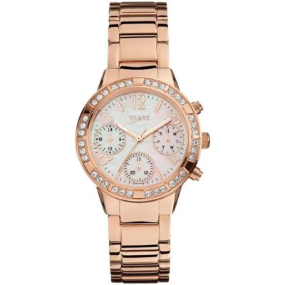 guess-watch-ginaikeio-mprasele-goldrose-multifunction-W0546L3