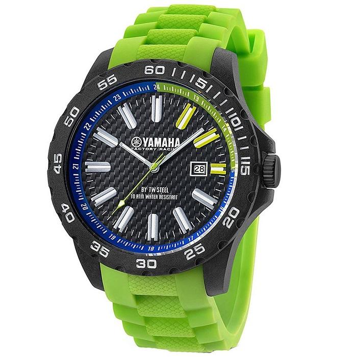 TWSteel-Yamaha-Y9-watch-adriko-rubber-prasino-sport-TW Steel Yamaha Y9