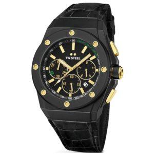 Ρολόι ανδρικό Tw Steel CEO Tech Emerson Fittipaldi CE4017 Chronograph  Limited Edition με δερμάτινο λουρί και μαύρο καντράν be668d78f8f